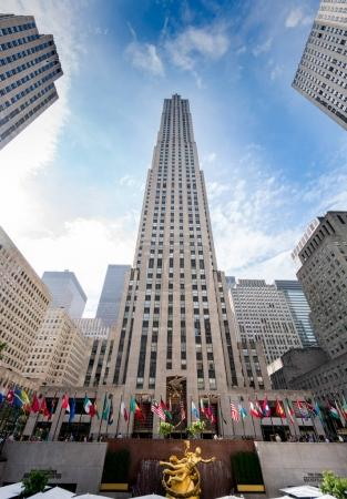Low angle view of the Rockerfeller Center