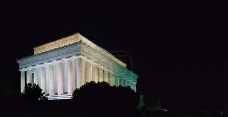 Lincoln Memorial exterior at night, Washington DC