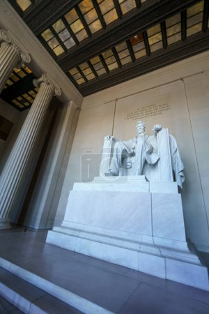 Low angle view of Lincoln Memorial statue