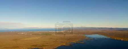 Photo for Aerial view, high angle view, horizon and blue skyline, Iceland, Europe - Royalty Free Image