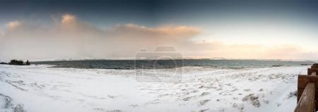 Deep snow covered landscape