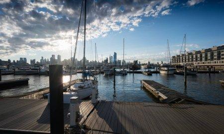 Photo pour Voir toute la marina à New York City, New York, é.-u. - image libre de droit