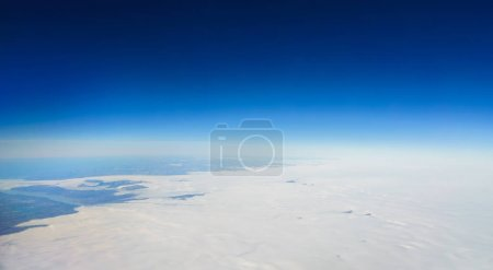 Aerial view of polar landscape