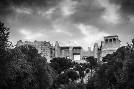 Photo for Old ruins of Parthenon on the Acropolis in Athens, Athens, Greece - Royalty Free Image