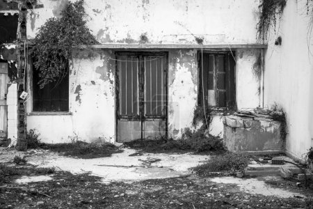 Photo for Closed door of building, Crete, Greece - Royalty Free Image