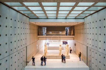 Photo for High angle view of tourists at New Acropolis Museum, Athens, Greece, Europe - Royalty Free Image