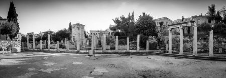 Photo for Historic columns of Hadrian's library, Athens, Greece - Royalty Free Image