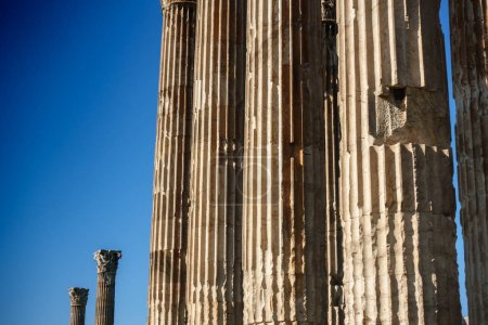 Photo for Old ruins of Temple Of Olympian Zeus, Athens, Greece - Royalty Free Image