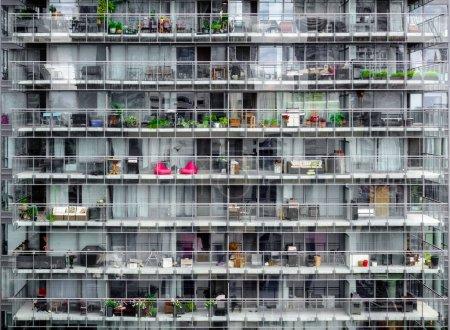 Exterior view of an apartment building, Toronto, Canada