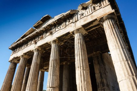 Photo for Old ruins of Temple of Hephaestus, Athens, Greece - Royalty Free Image
