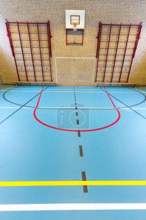 Empty european gymnasium for school sports