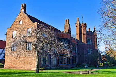 Photo for Gainsborough Old Hall in Gainsborough, Lincolnshire is over five hundred years old and one of the best preserved medieval manor houses in England. The hall was built by Sir Thomas Burgh in 1460. - Royalty Free Image