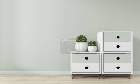 Photo for Mock up room interior design .3D rendering - Royalty Free Image