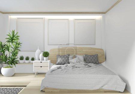 Mock up room interior design .3D rendering...