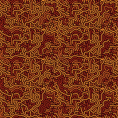 Foto de Entorno orgánico moderno con líneas redondeadas. Cellas, laberinto, estructura natural de coral. Modelos sin fisuras de vector blanco y negro con reacción de difusión. Diseño lineal con formas biológicas - Imagen libre de derechos