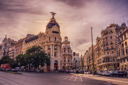 Madrid Spain cityscape at Calle