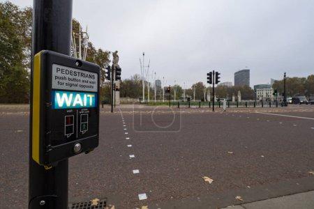 Photo for Pedestrian traffic light on a crosswalk - Royalty Free Image