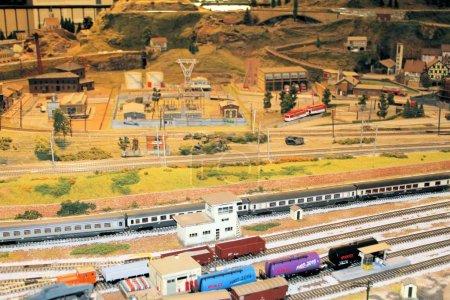 Photo pour Gare miniature. Gare. Le modèle de la gare en propotion - image libre de droit