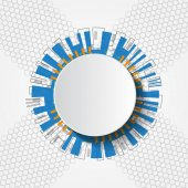Bílé abstraktní futuristické technologie kruh vektorové ilustrace