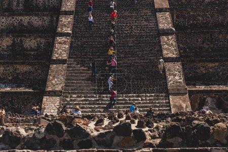 Teotihuacan es el sitio arqueológico más visitado de México, lugar de muchas de las pirámides mesoamericanas de mayor importancia arquitectónica, Patrimonio de la Humanidad de la UNESCO..