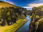 The Majestic Canyon Fjarrgljfur, Iceland