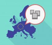 Long shadow EU map with a few photos