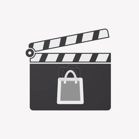 Illustration of an isolated clapper board with a s...