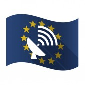 Isolated EU flaw with a satellite dish