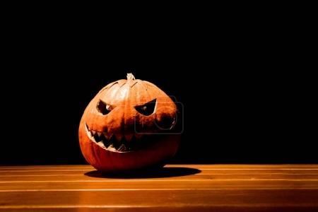 Big spooky helloween symbol has darkest mad face a...