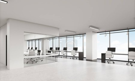 View of office with rounded corners conference room
