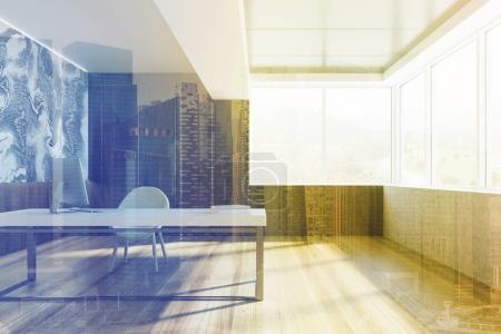 CEO office, window toned