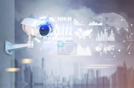 CCTV camera, infograpics, map
