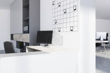 Modern office workplace corner, photos