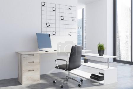 Modern office workplace, photos