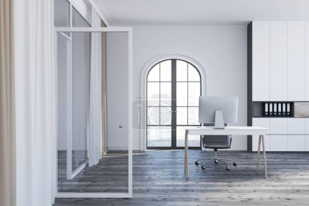White manager s office interior