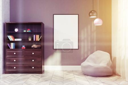 Gray nursery interior toned