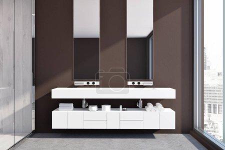 White double sink vanity unit