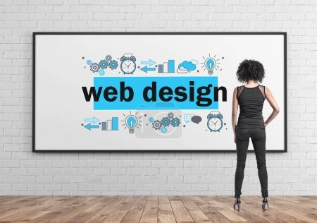 African American businesswoman, web design