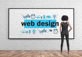 African American businesswoman, web design