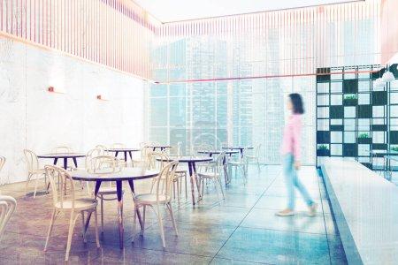 Loft luxury restaurant interior toned