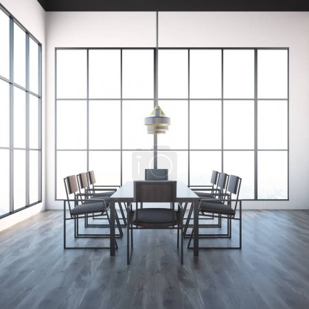 White meeting room interior, loft