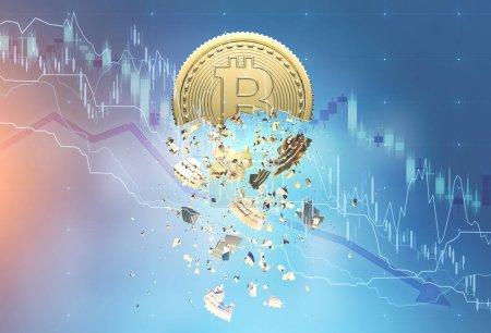 Bitcoin crisis double exposure, graph