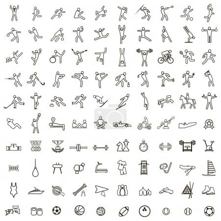 Sport and Fitness 100 icons