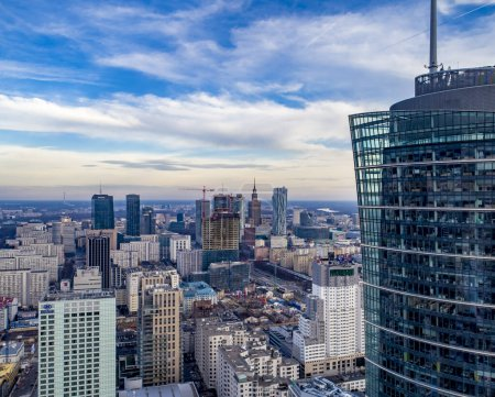 Photo for Warsaw, Poland. Aerial view of the city - Royalty Free Image