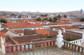 Rooftop View of Sucre, Bolivia from San Felipe Neri Monastery