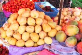 Mangoes at Outdoor Market in Peru
