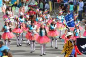 Girls in Colorful Pink Tutus in Cajamarca Carnival, Peru