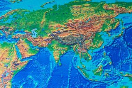 Photo pour Carte du monde physique fond - image libre de droit
