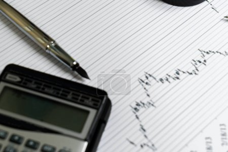 Photo for Financial accounting stock market graphs analysis - Royalty Free Image