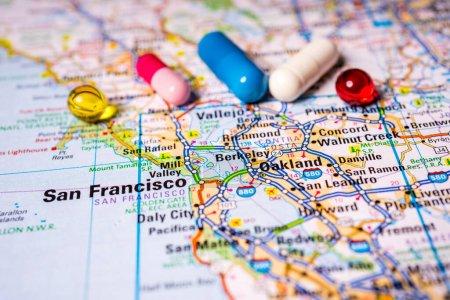 Foto de San Francisco en el cuarentena COVID-19 Coronavirus - Imagen libre de derechos